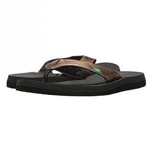 Sanuk Yoga Glam Flip Flop Sandals Bronze  Size 7